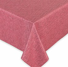 Teflon Tischdecke Stoff Meterware, Lotuseffekt Matrix Rot Schwarz, Breite 140 cm LÄNGE wählbar, 110x140 cm, Beautex