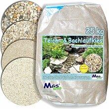 Teich- & Bachlauf - Kies Quarzkies gerundet kalkfrei nährstoffrei DIN 4924 Einbau & Unterbau -fähig 3-6 mm