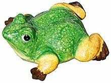 Teich Frosch grün/gelb/braun Keramik Breite 17,5