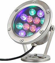 Teichbeleuchtung, 12W LED Unter Wasser Light