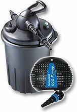 Teichfilter Druckfilter UVC 24W + ECO Teichpumpe Z4500 Gartenteich Koi Koiteich