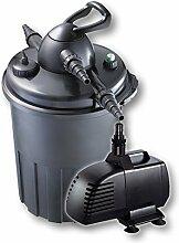 Teichfilter Druckfilter UVC 24W + Teichpumpe GP 2500 Gartenteich Koi Koiteich