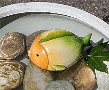 Teichfisch Nemo Keramik orange/creme/grün Breite