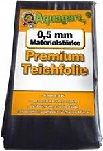 Teichfolie PVC 19m x 2m 0,5mm schwarz Folie für