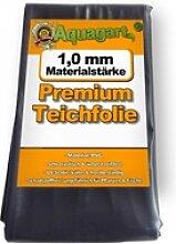Teichfolie PVC 1m x 4m 1,0mm schwarz Folie für