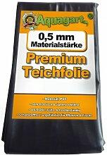 Teichfolie PVC 5m x 6m 0,5mm schwarz Folie für