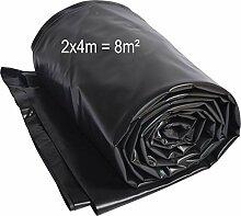 TEICHWERKplan Teichfolie PVC 2 x 4 m schwarz 0,5mm