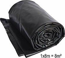 TEICHWERKplan Teichfolie PVC 8 x 1 m schwarz 0,5mm