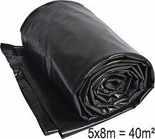 TEICHWERKplan Teichfolie PVC 8 x 5 m schwarz 0,5mm