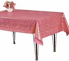 Teig Rustikale Tischdecke Tisch Matte Tischset Untersetzer Wasserdicht Öl Tischdecke Klassisches Öl Einfach Praktisch Warm,C-pink