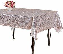 Teig Rustikale Tischdecke Tisch Matte Tischset Untersetzer Wasserdicht Öl Tischdecke Klassisches Öl Einfach Praktisch Warm,B-silver