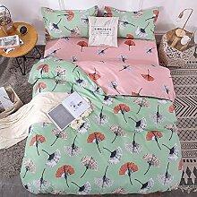 Teinopalpus Bettwäsche-Set, rosa und grün,