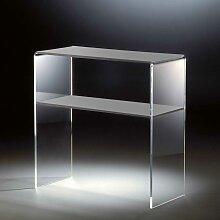 Telefontisch aus Acrylglas Hellgrau