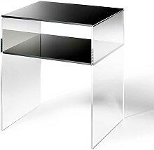Telefontisch aus Acrylglas Schwarz