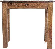 Telefontisch aus Teak Massivholz 80 cm