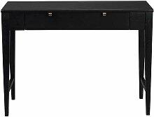 Telefontisch in Schwarz 100 cm breit