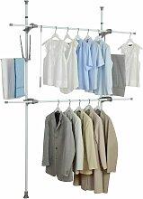 Teleskop System Ordnungssystem Kleiderschrank
