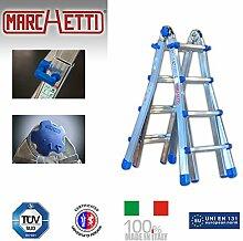 Teleskopleiter/Multifunktionsleiter Equipe bis 2,95 m (EQU33) ausziehbar Mehrzweckleiter / Leiter aus Aluminium