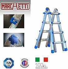 Teleskopleiter/Multifunktionsleiter Equipe bis 5,25 m (EQU55) ausziehbar Mehrzweckleiter / Leiter aus Aluminium