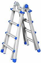 Teleskopleiter/Multifunktionsleiter Equipe bis 6,40 m (EQU66) ausziehbar Mehrzweckleiter/Leiter aus Aluminium