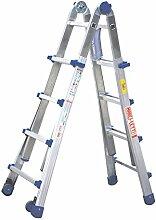 Teleskopleiter/Multifunktionsleiter mit Rollen Equipe bis 4,10 m (EQU44) ausziehbar Mehrzweckleiter/Leiter aus Aluminium