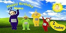 Teletubbies Geburtstagsbanner für 1. Geburtstag,