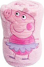 Teletubbies Peppa Pig 'Tutu' 3D Fleece Decke, Mehrfarbig