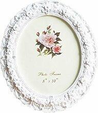 Telisha Retro Style weiß Rose Blume Oval Home