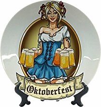 Teller Abenteurer Bierkrug Oktoberfest Keramik bedruck