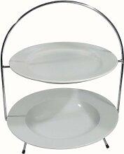 Teller-Etagere für Teller 27 & 30 cm, 2-fach