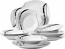 Teller,Geschirr,Porzellanteller 18-Teiliges