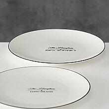 Teller Hampton 2sort D22cm Material: Porzellan