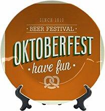 Teller Nostalgie Bier Oktoberfest Keramik bedruck