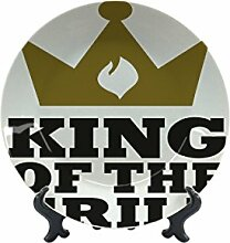 Teller Nostalgie Fun Grill King Keramik bedruck