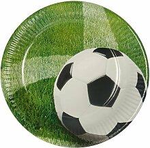 Teller Pappe Pappteller rund Ø 23cm Fußball