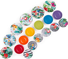 Teller-Set Tropical Chic, 18-teilig Color Addicted