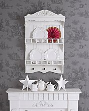 Tellerboard Shabby Chic Wandregal Holzregal