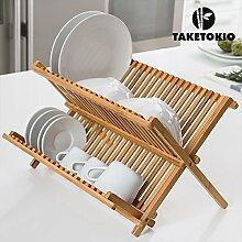 Tellerständer, faltbar, Bambu