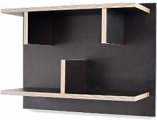 TemaHome Bern 60 Wandregal, Holz, schwarz, 60 x 23 x 7 cm