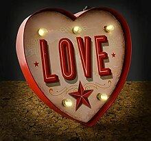 Temerity Jones Deko-Wandlampe CARNIVAL SMALL HEART