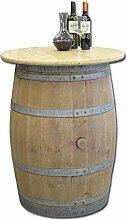 Temesso Weinfass als Stehtisch mit Tischplatte D