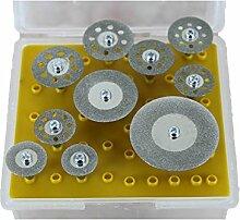 TEMO 10pc Diamantsäge CUTOFF SCHEIBEN 1/8 Zoll (3