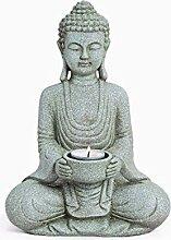 TEMPELWELT Deko Figur Buddha Gautama sitzend mit