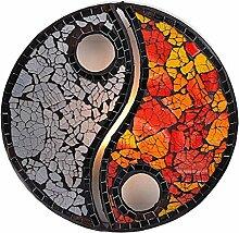 TEMPELWELT Dekoleuchte Design Deko Lampe Yin Yang