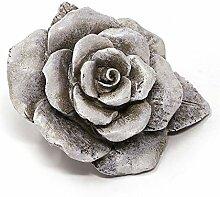 TEMPELWELT Grab Deko Rose Blüte Zum Stellen 14x8