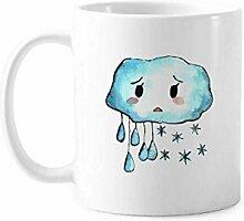 Tempera Pitiful Rain Cloud Tasse, Keramik, Kaffee,