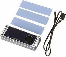 Temperatur-OLED-Display M.2 2280 SSD Heatsinks