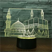 Temple Castle Palace 3D Lampe 7 Farbe Led
