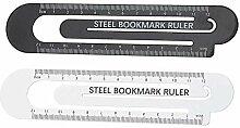 TEN-G Creative Paper Clip Design Steel Ruler