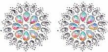 Tendycoco Crystal Brust Tattoo Aufkleber Kristall